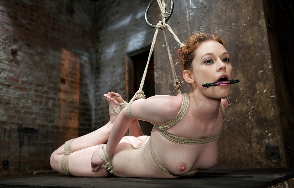 Naked girls tied up and gagged