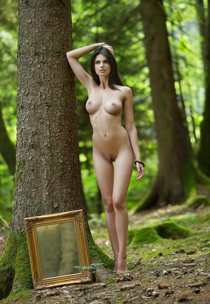 Naked girl in woods tree arab