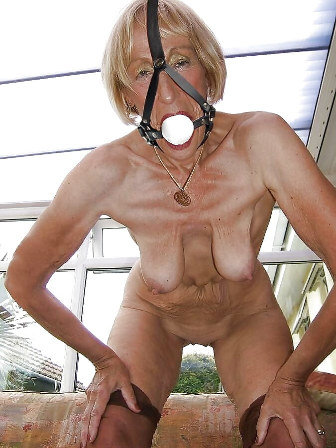 Mature bondage tit torture