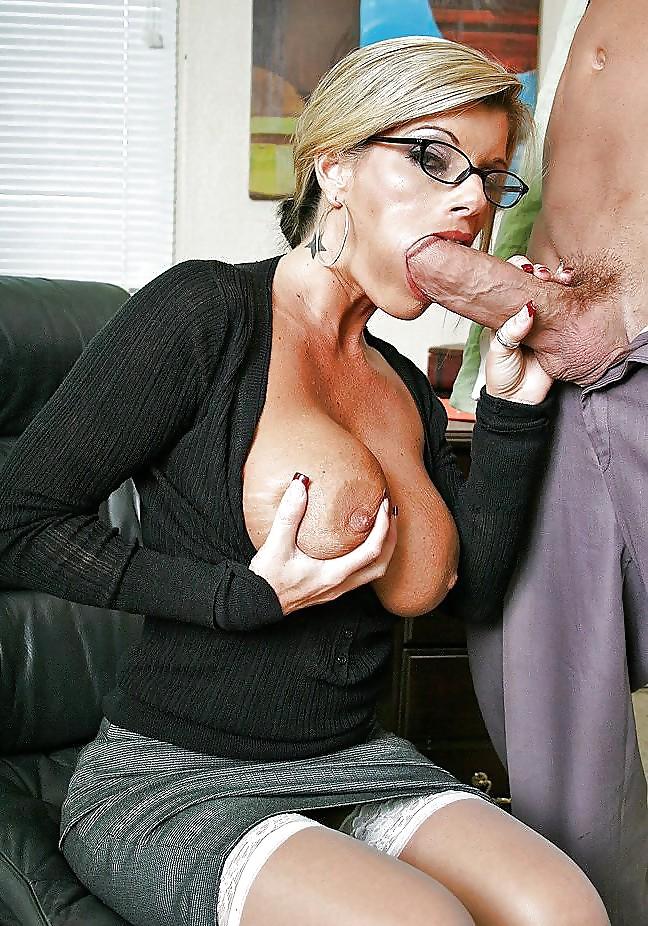 Busty milf with teacher glasses nasty talk