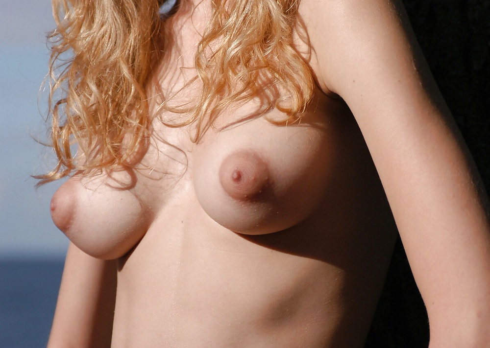 Perky puffy breasts