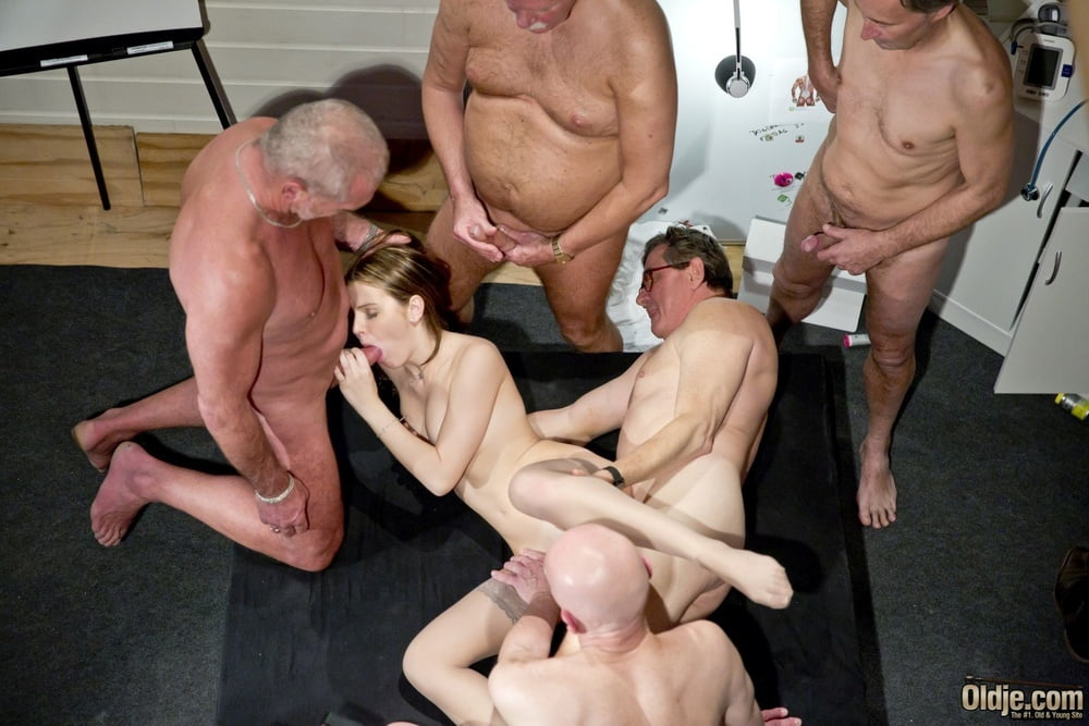 Old man cock orgy