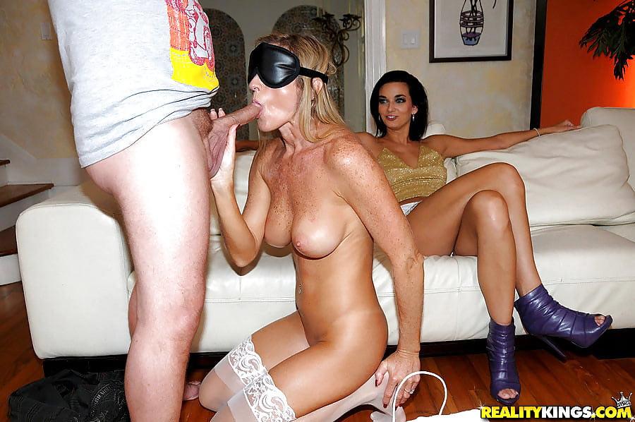 Ms Son Blindfolds Mom Then Fucks Her