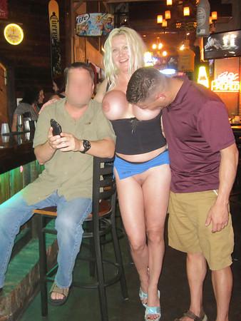 Fake tits public