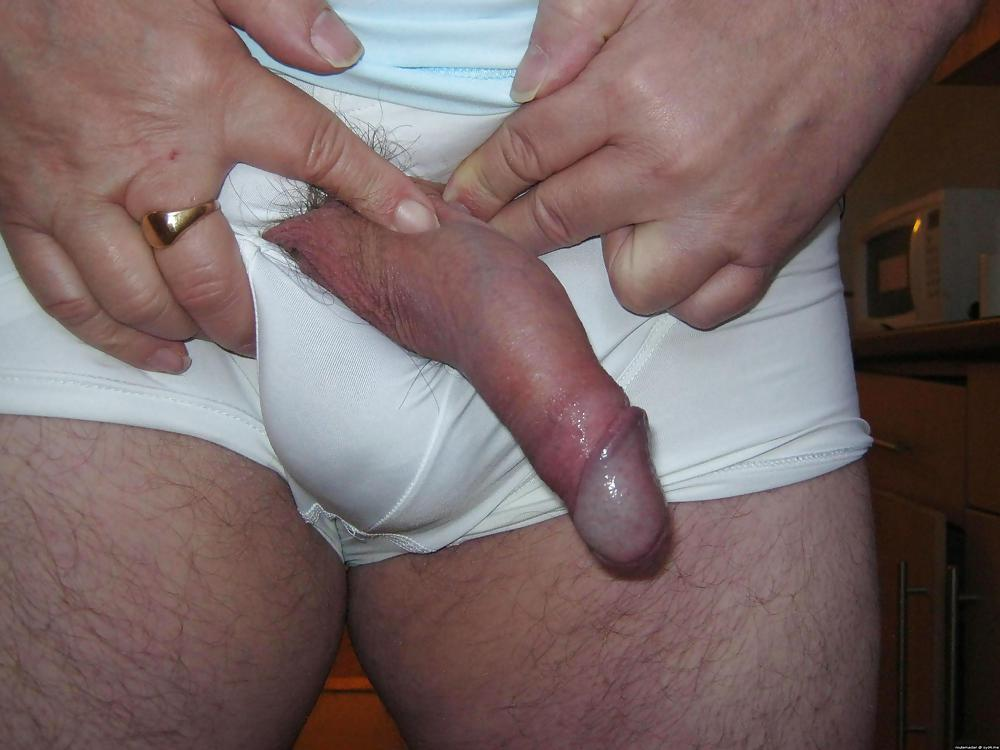 Pictures of dicks hanging out shorts