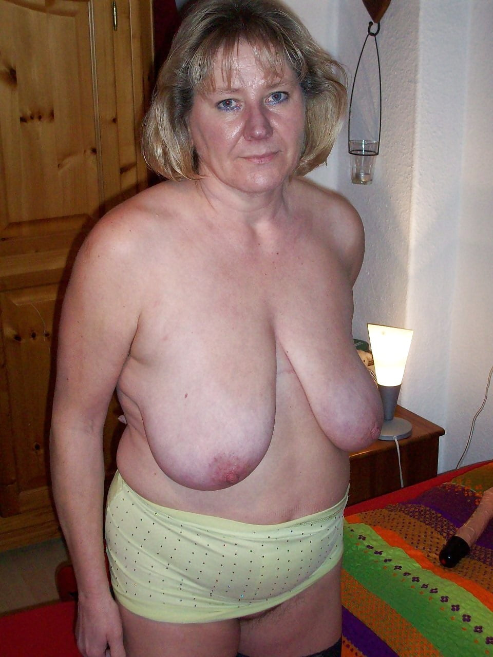 Naked granny boobs