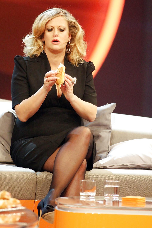 In nylons schöneberger barbara Barbara Schöneberger
