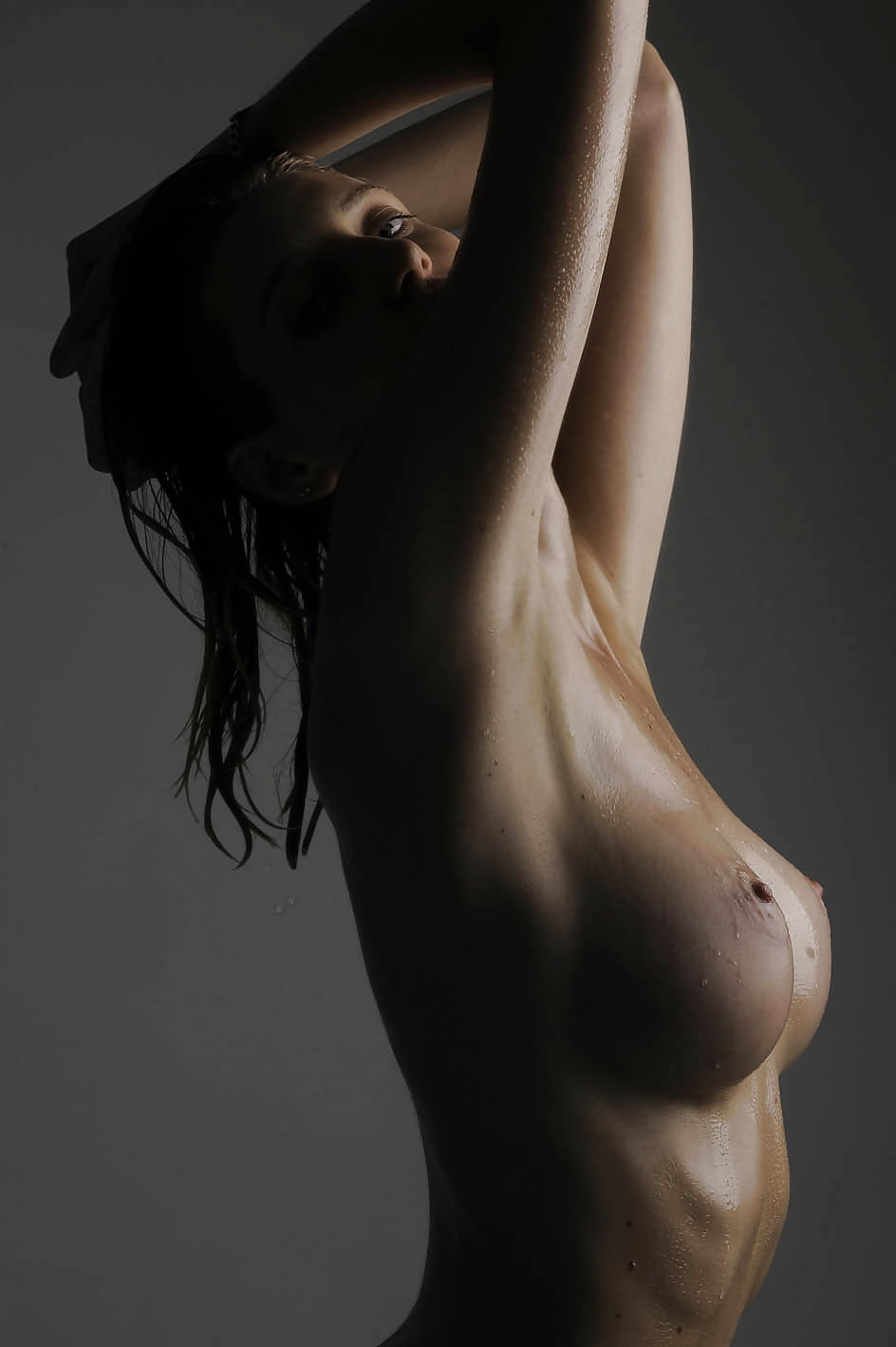 Pain hip naked side view stock photos, pictures royalty