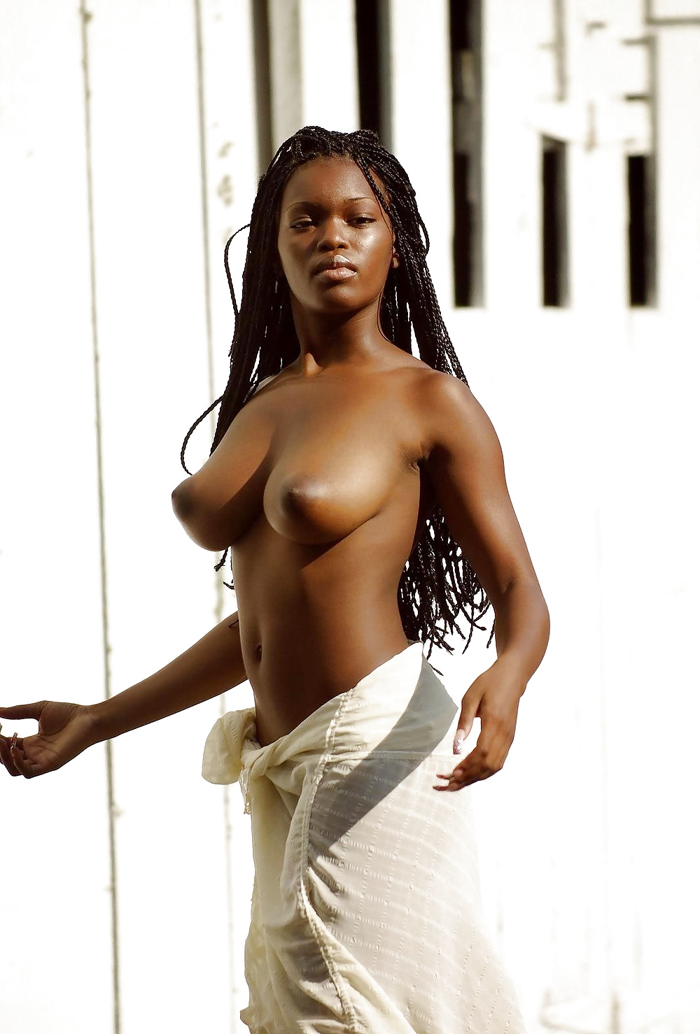 Sexy woman afroamerican model naked