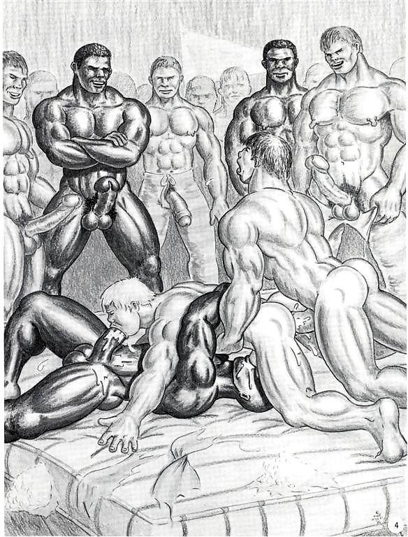 Gay male drawings comics