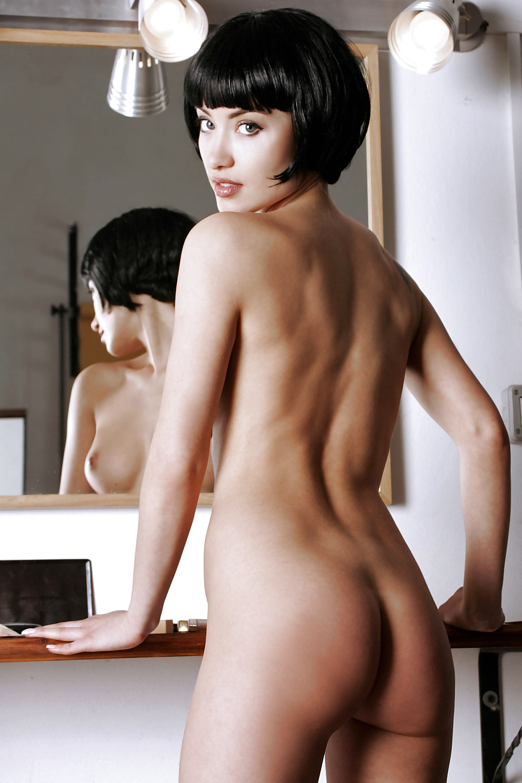 Short Hair Brunette Emylia Nude