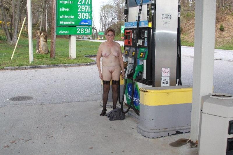 Inside compilation naked at a gas station