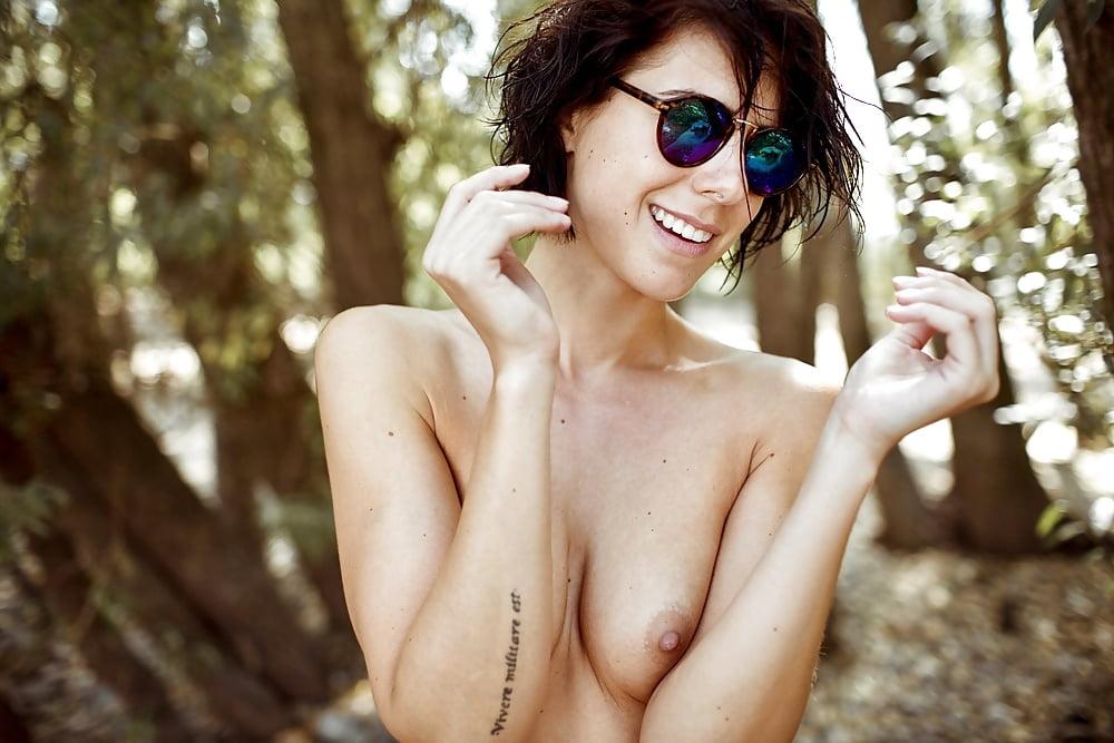 Franzi skamet topless and nude