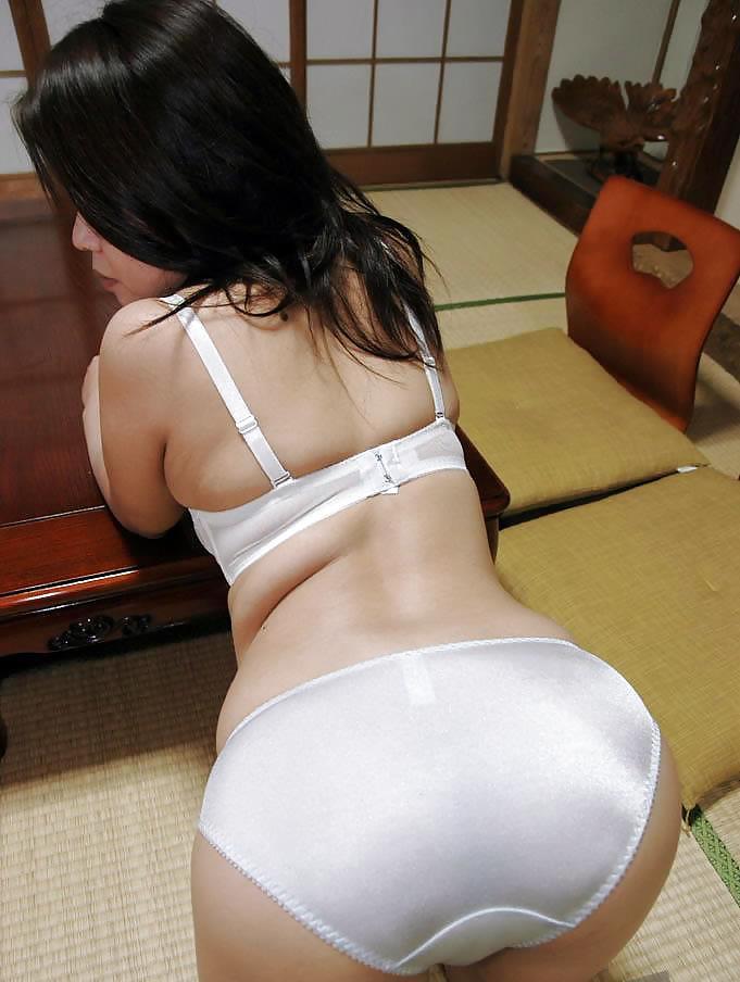 Asian satin panty ass