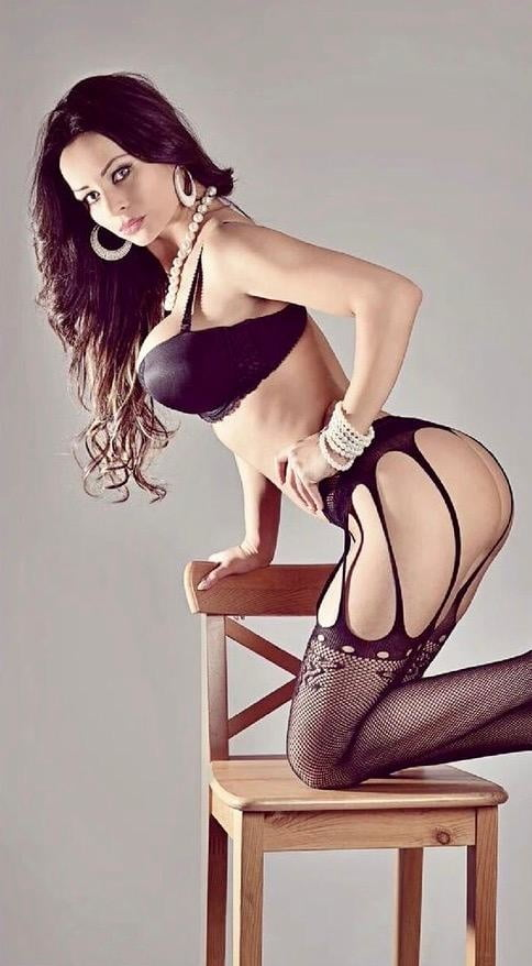 Beautiful poses beautiful lingerie in a collage