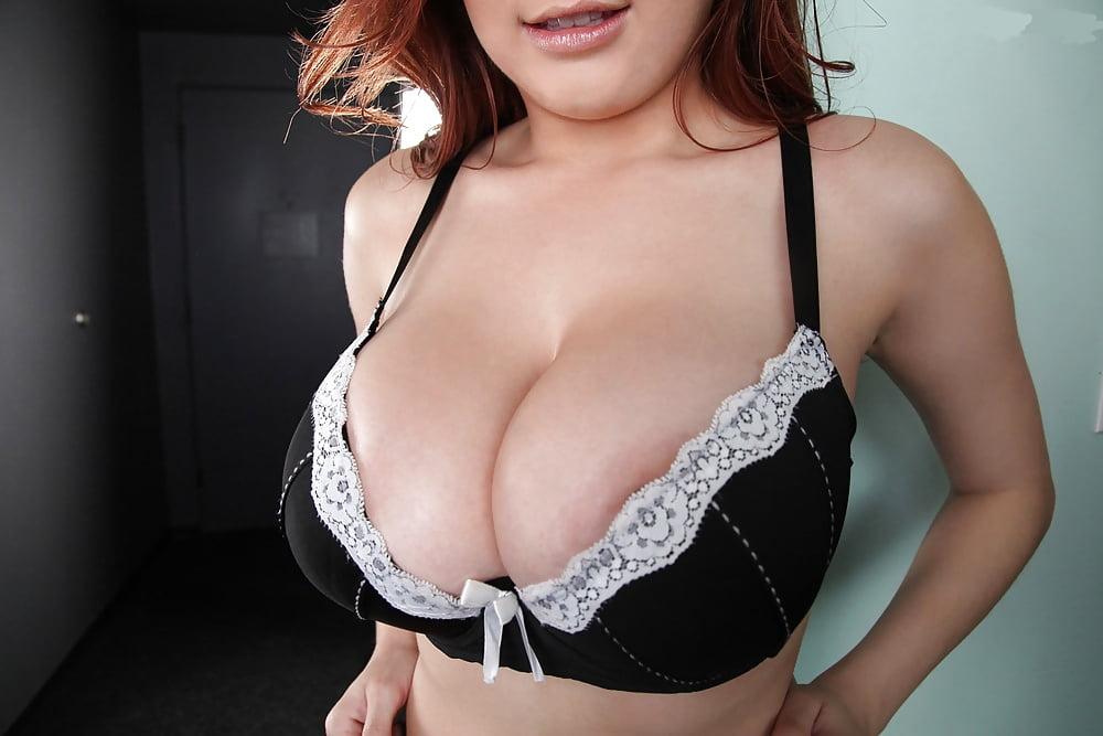 White lace bra firm tits