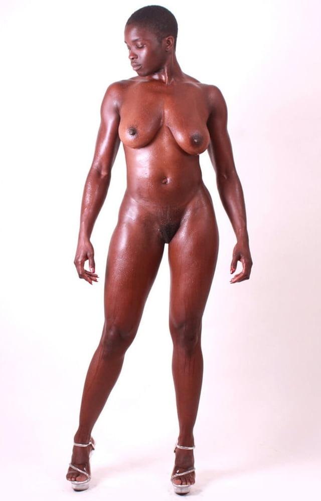 Black naked woman athletes gif