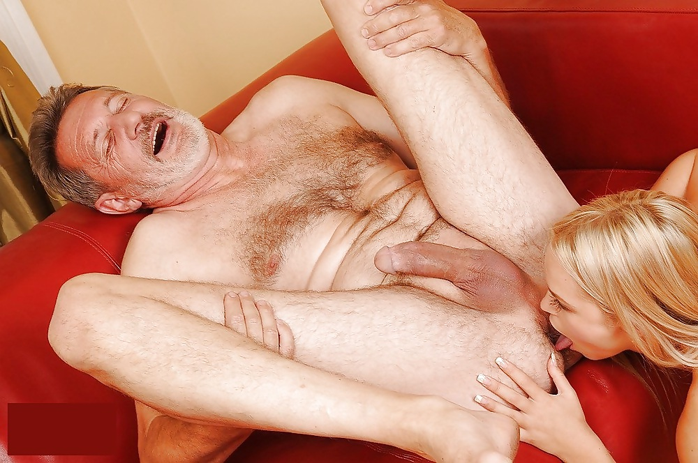Old men licking