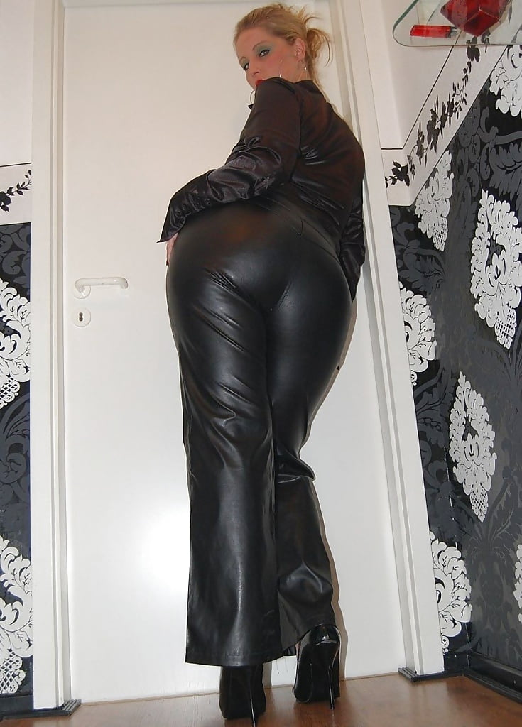 Naked in leather pants — 5
