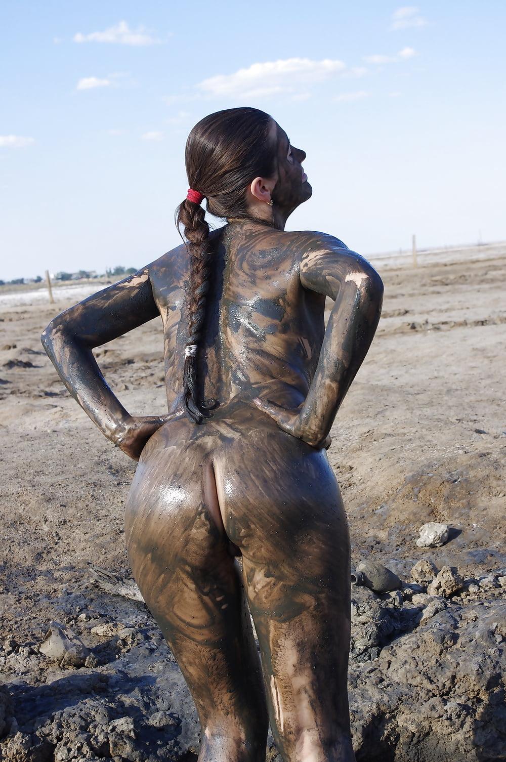 Nude mud wrestling naked