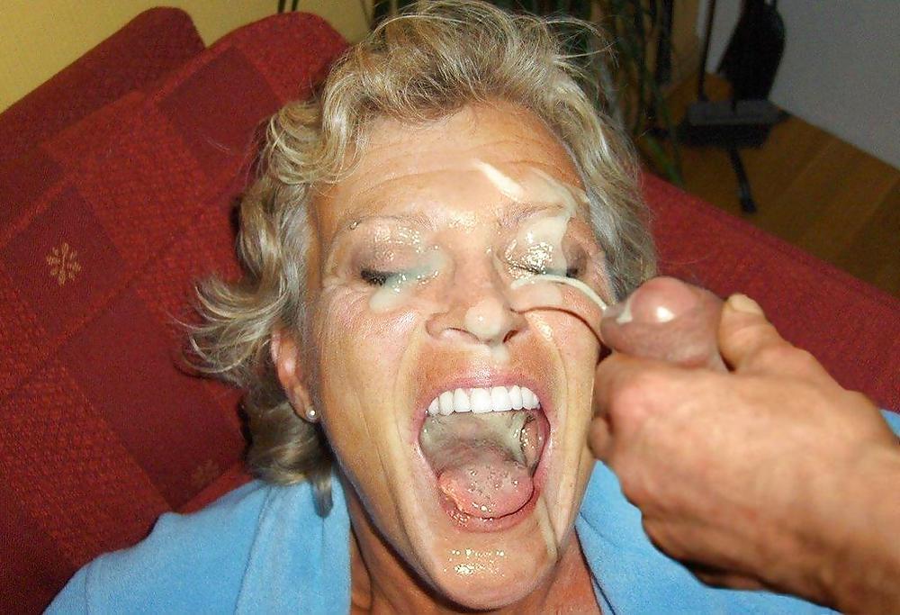 Mature granny facial 13