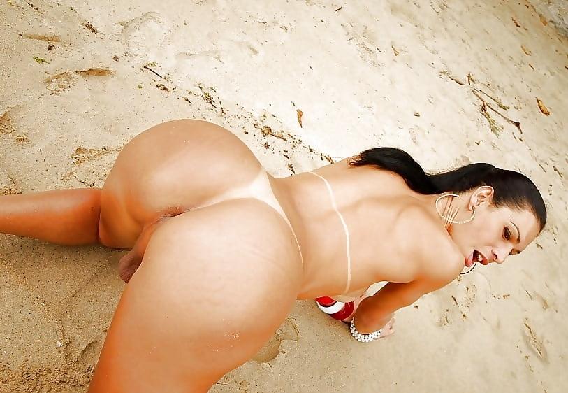 Shemale ass beach