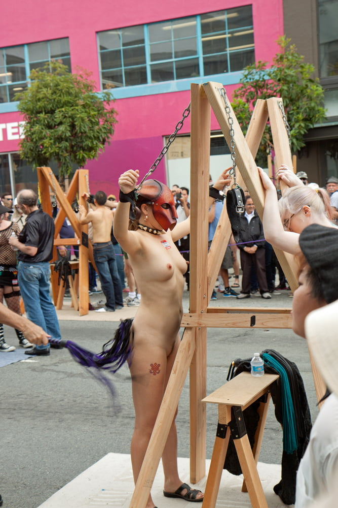 Coeds girl runs naked in public humiliation