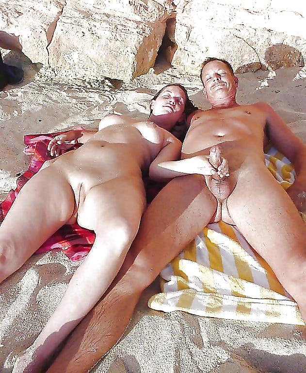 Porn on public beach-3742