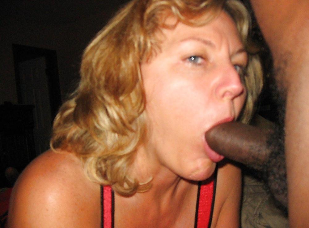 Wife blowing black guy