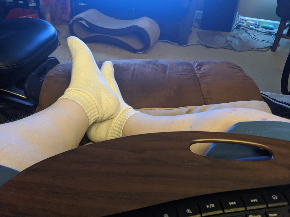 Stinky white ankle socks latina friend