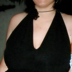 my monster tits in a black dress