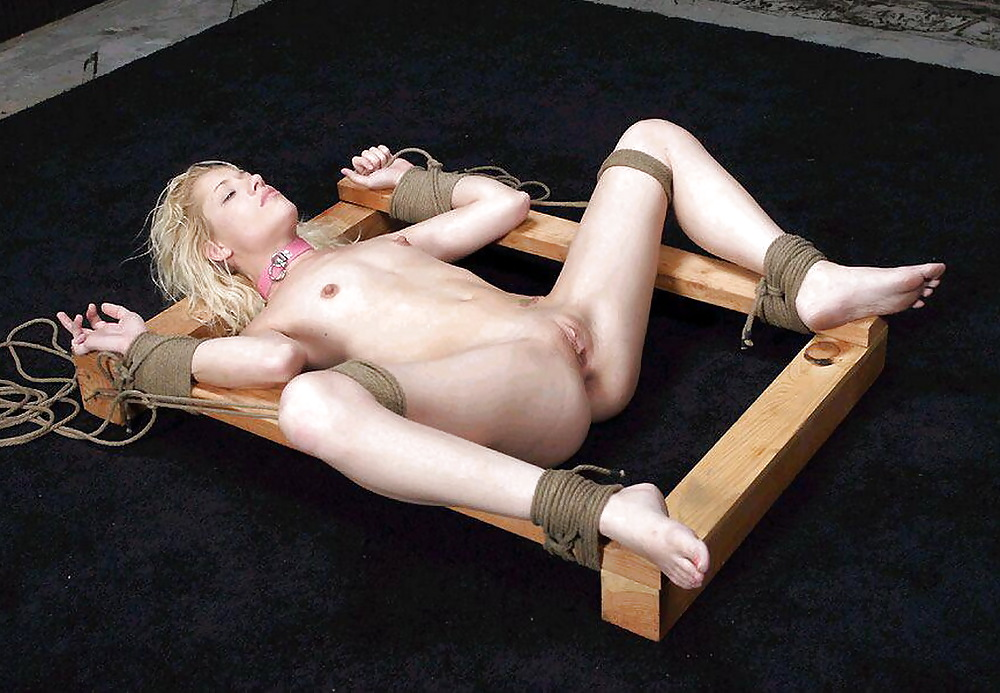 Naked person that was tied up