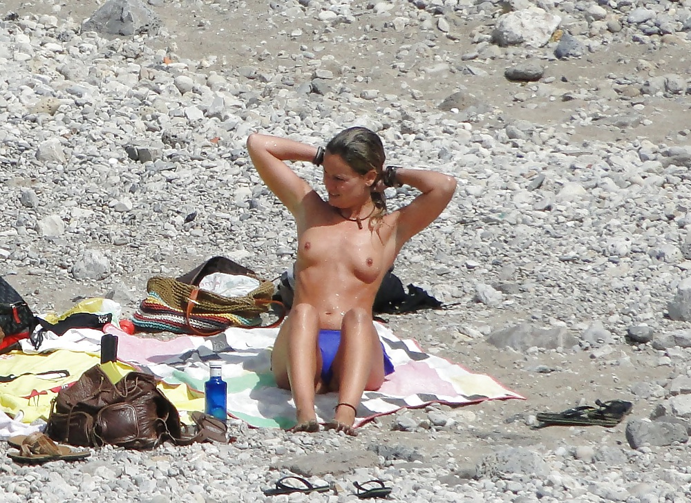 Topless at the beach pics