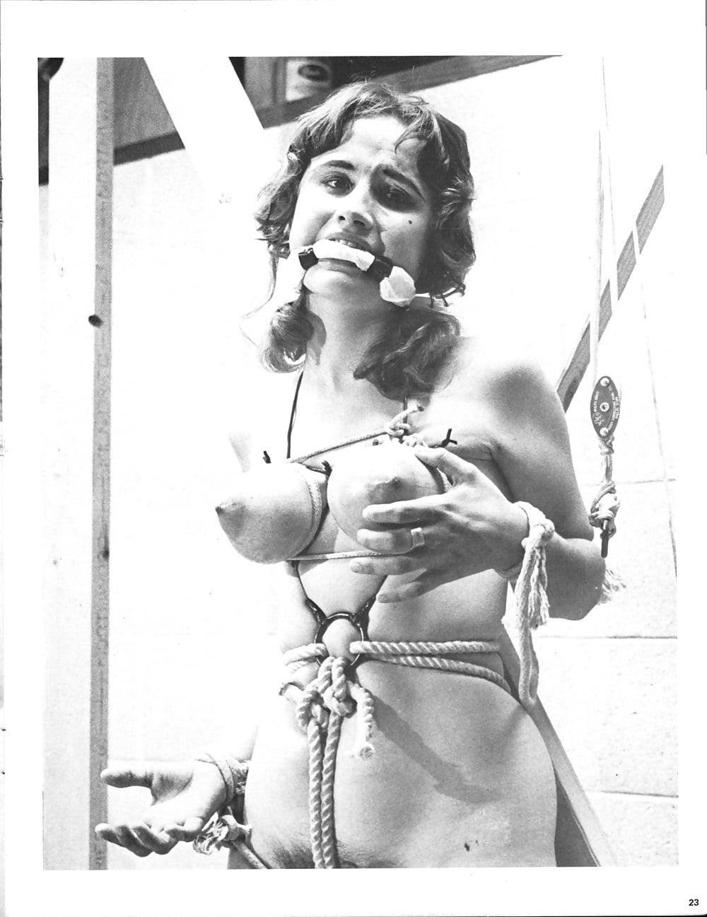 Vintage brunette bondage, sex tricks naked
