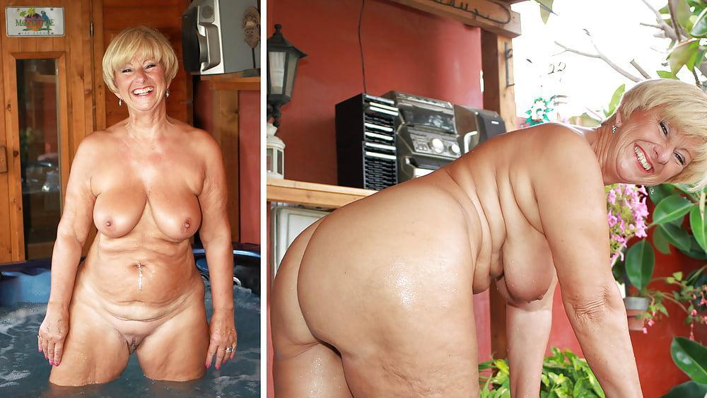 Beautiful old lady nude