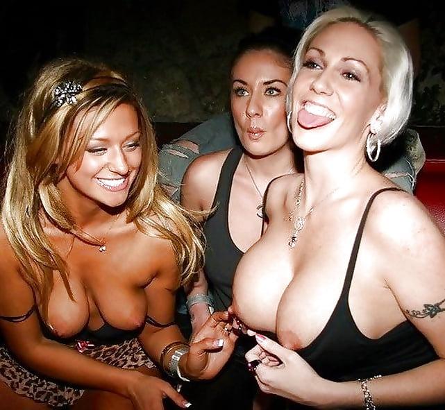 Wild college party girls