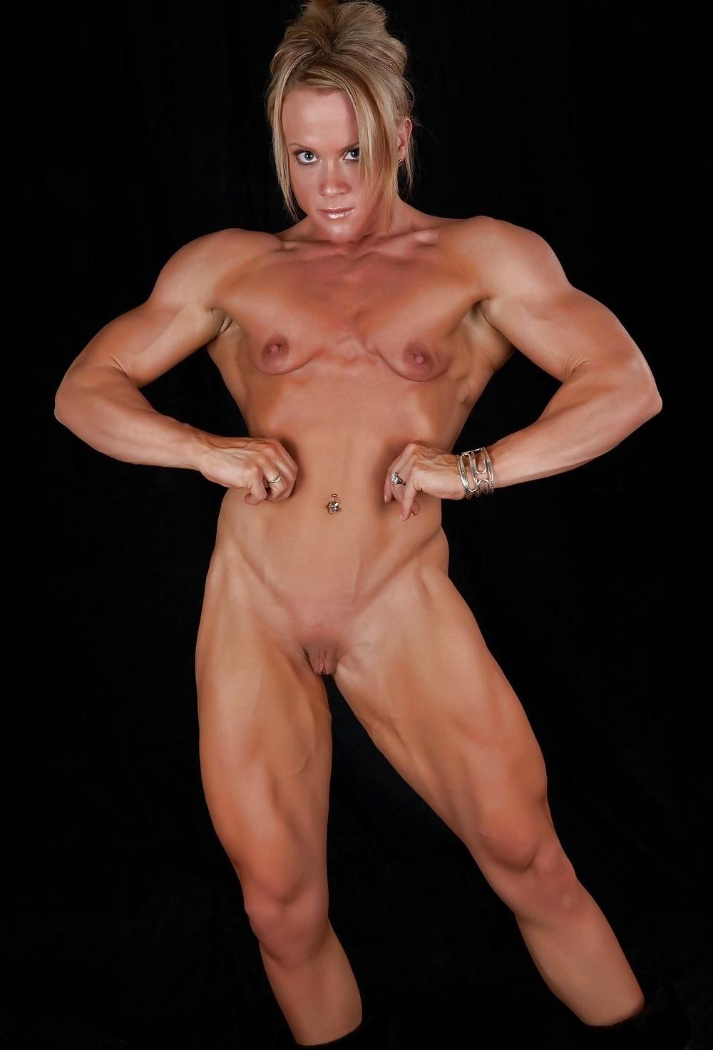 Muscular shape nude female bodybuilding sexy fitness women