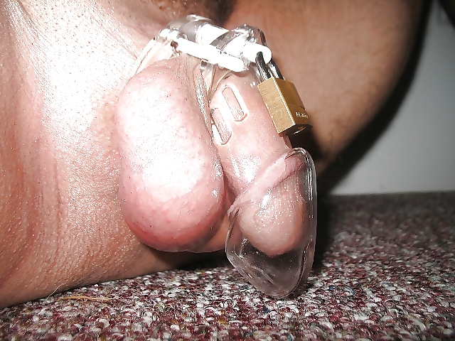 Amateur wife unlocks caged cock to use his cum - 1 7