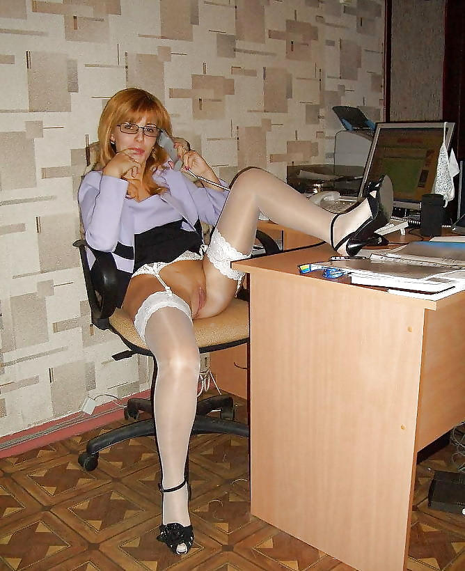 Upskirt in the office