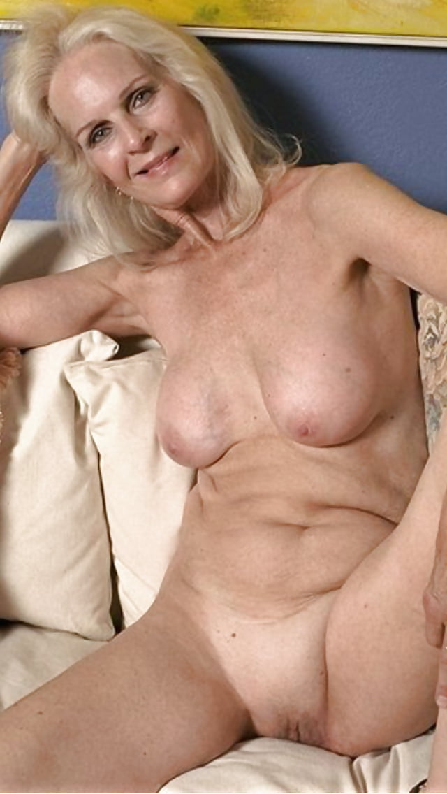 Naked horny old woman