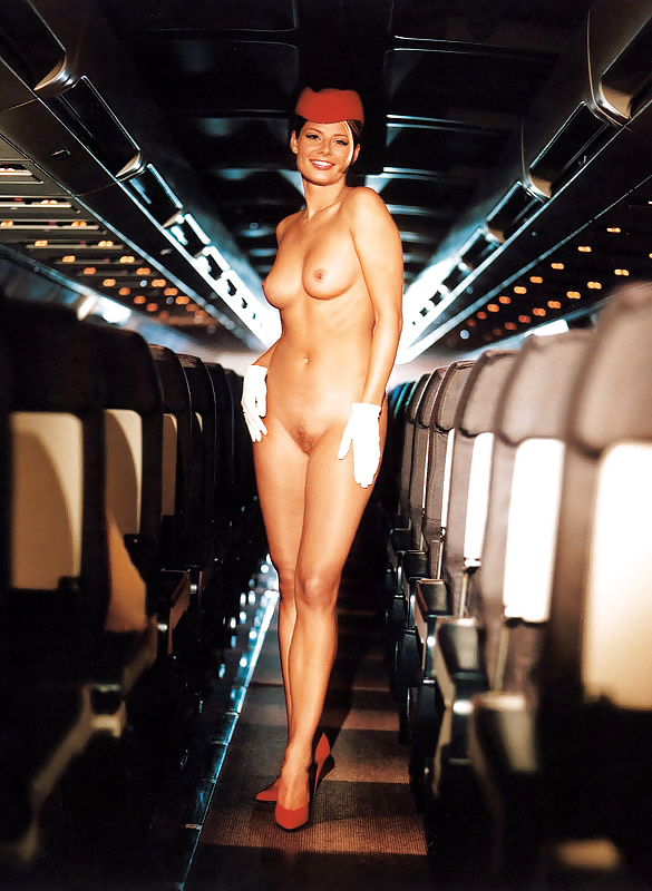Naked cabin attendant — photo 13