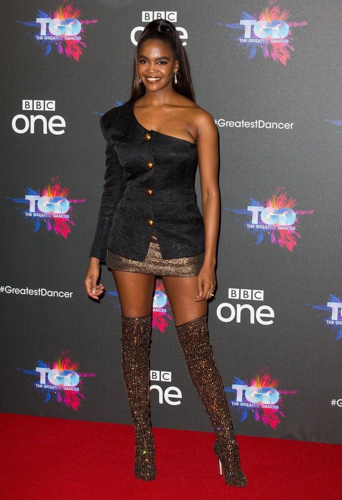 Female Celebrity Boots & Leather - Oti Mabuse - 8 Pics