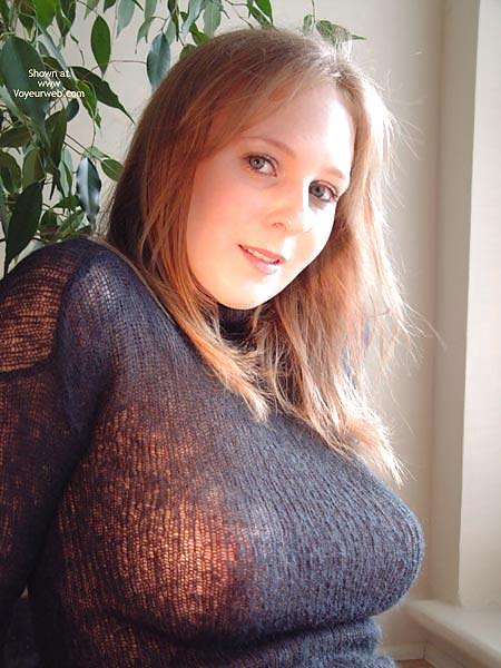 sweater in Huge tits