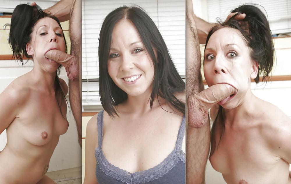 Heeled british bird sucking dick for facial