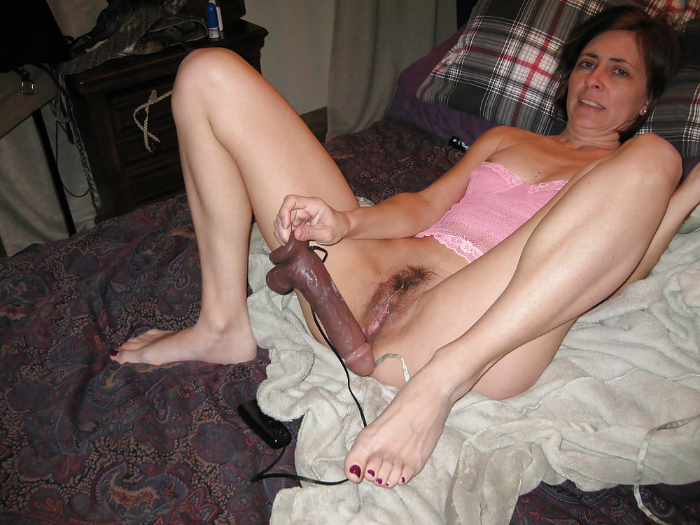 My wife fucks my ass with her new huge dildo