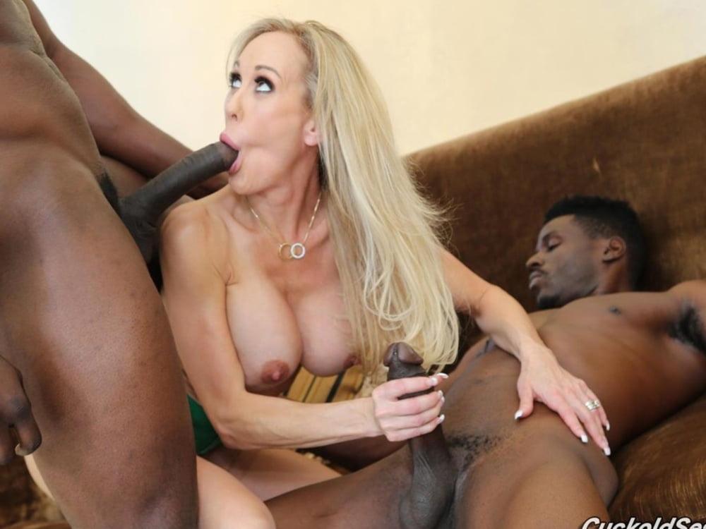 Stacked Blonde Brandi Love Sucks And Fucks The Big Black Cock Of Stud 1