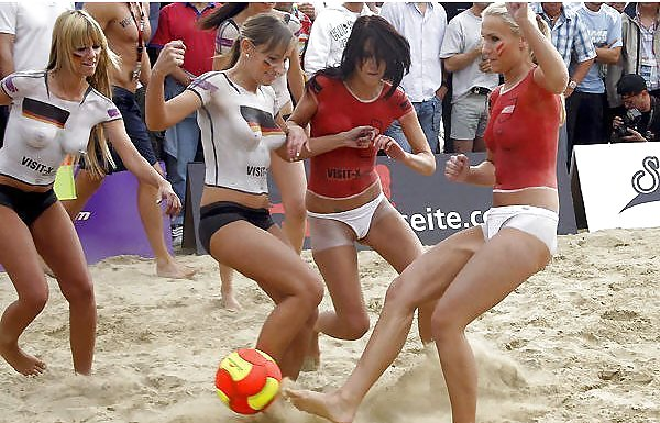 Naked beach soccer