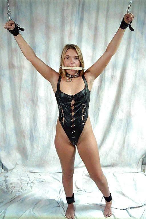 Fetish crossdressed sissy hogtied dominatrix